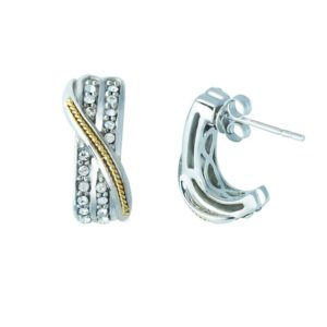 Gorgeous huge durable earrings with 14K Gold and Silver