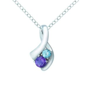 SKY BLUE TOPAZ AND AMETHYST PENDANT