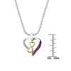 Multi-Colored Sterling Silver Heart Necklace for Valentines Day