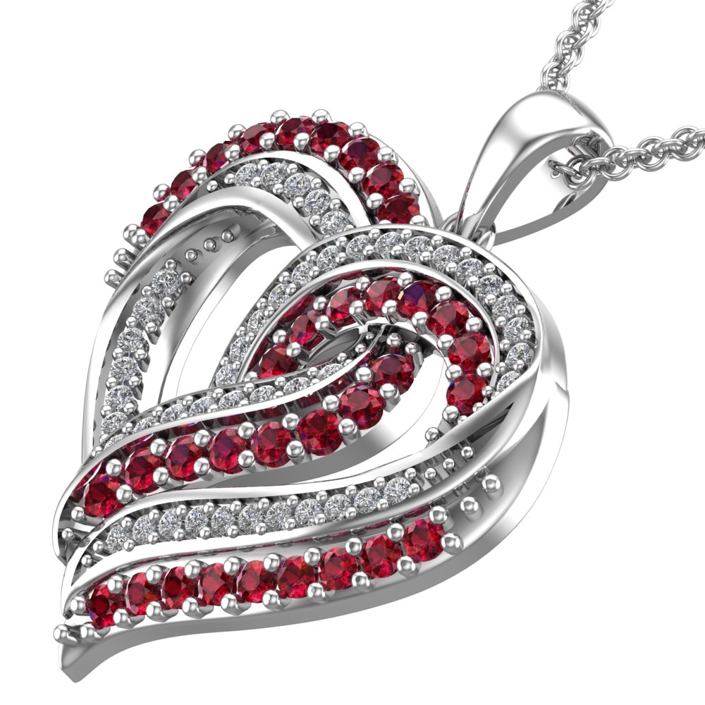diamond white in round ruby wg nl with set pendant cross necklace gold prong jewelry red religious