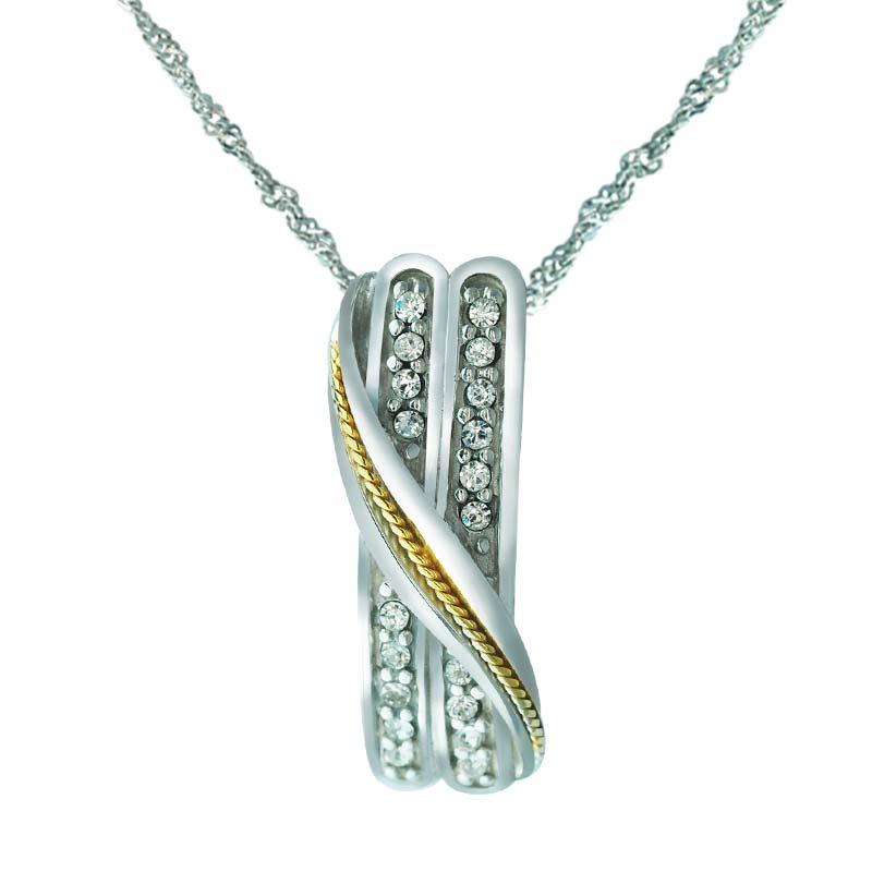 Swarovski crystal on silver inline pendant online for Swarovski jewelry online store