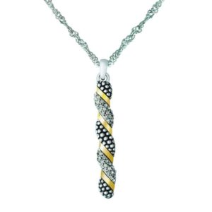 925 STERLING SILVER PENDANT WITH 14K GOLD