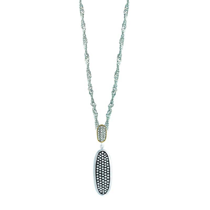 ELEGANT PENDANT WITH 14K AND 925 STERLING SILVER