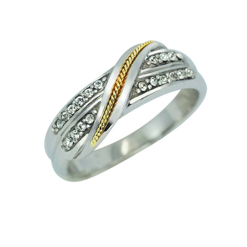 14K YELLOW GOLD ACCENT SPARKLY RING