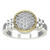 Sterling Silver Elegant Ring with 14K Gold Wire and Chic Touch