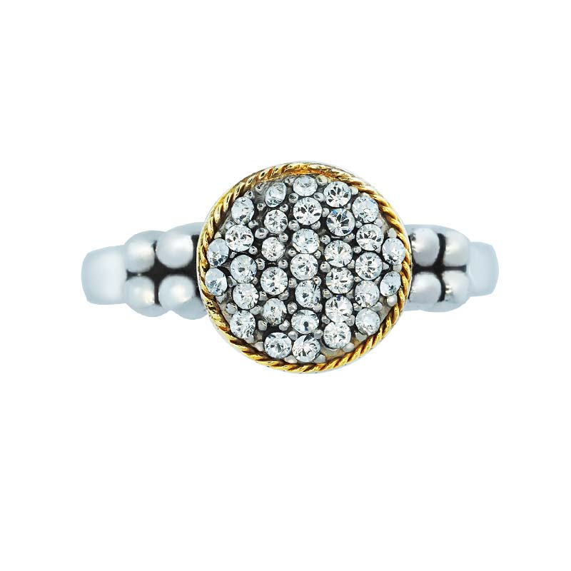 Swarovski Crystal Chic Ring in 14K Gold and Sterling Silver