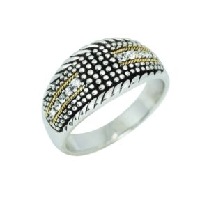 ELEGANT RING WITH 14K GOLD AND SWAROVSKI CRYSTAL