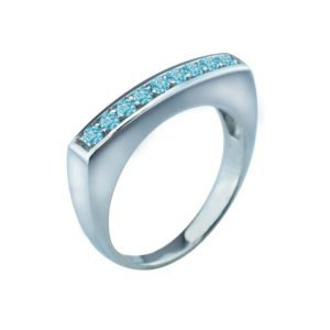 Beautiful cocktail ring with set of 9 Sky Blue Topaz stones