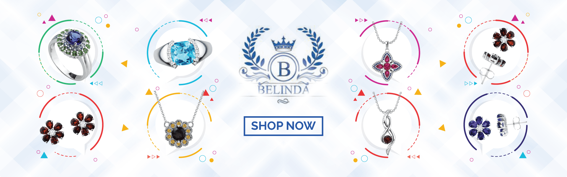 belinda jewelz summer collection banner for flower jewelry