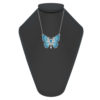 Sterling Silver Butterfly necklace with Aquamarine accents
