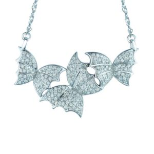 Enchanting Butterfly Necklace in 925 Sterling Silver and Sparkling CZ's