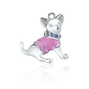 925 Sterling Silver Chihuahua charm for necklace or bracelet