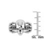 Sterling Silver Skull Ring with Claws