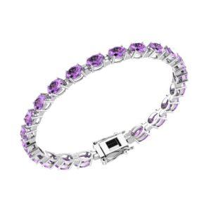 RSB-0034-Amethyst tennis bracelet