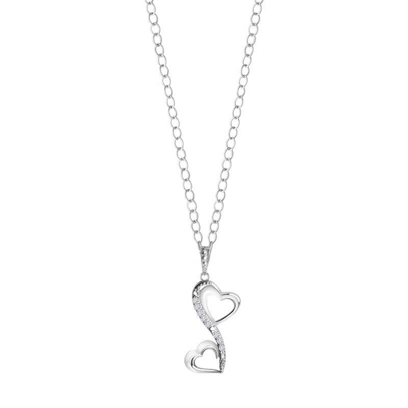 Two beautiful connecting heart pendant for your loved one or valentine's RSP-0139