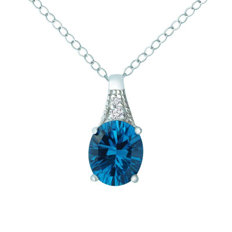 necklace shaped topaz in with and product solid diamonds pendants silver sterling oval blue swiss rsp