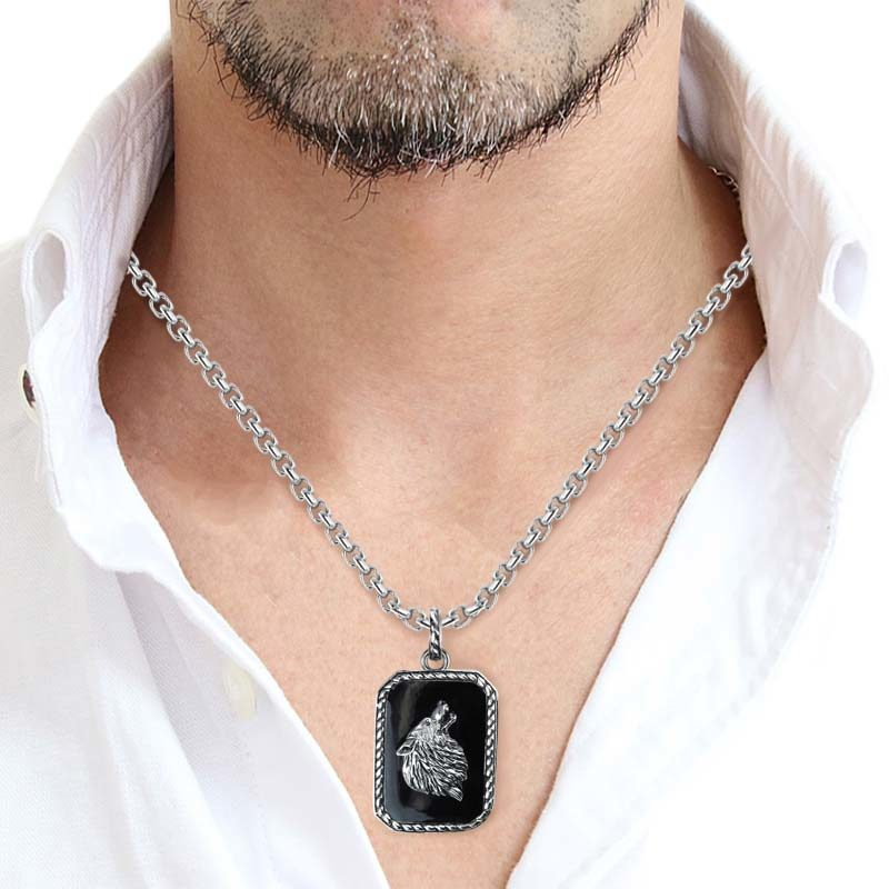 Stylish 925 Sterling Silver Wolf Pendant