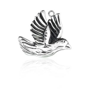 .925 Sterling Silver Dove of peace charm