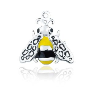 Honey Bee Charm in 925 Sterling Silver