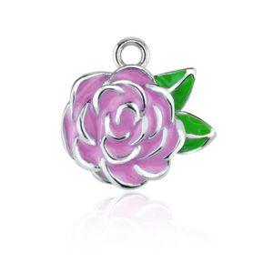 sterling silver rose charm RSPT-0232