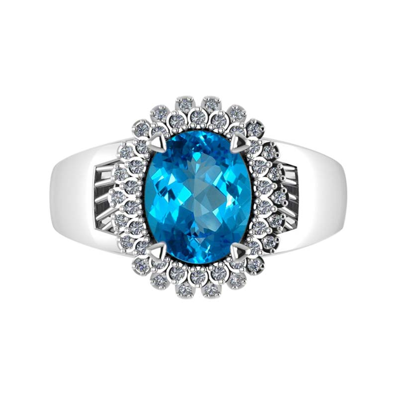 lbl sterling round topaz white silver t blue ct w itm ring stone london rd and usn rings