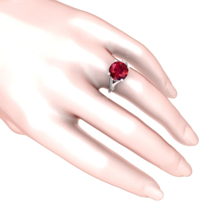 created ruby with diamonds ring RSR 0334 3