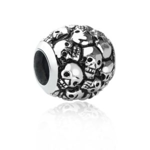 Sterling Silver Skull bead for bracelet