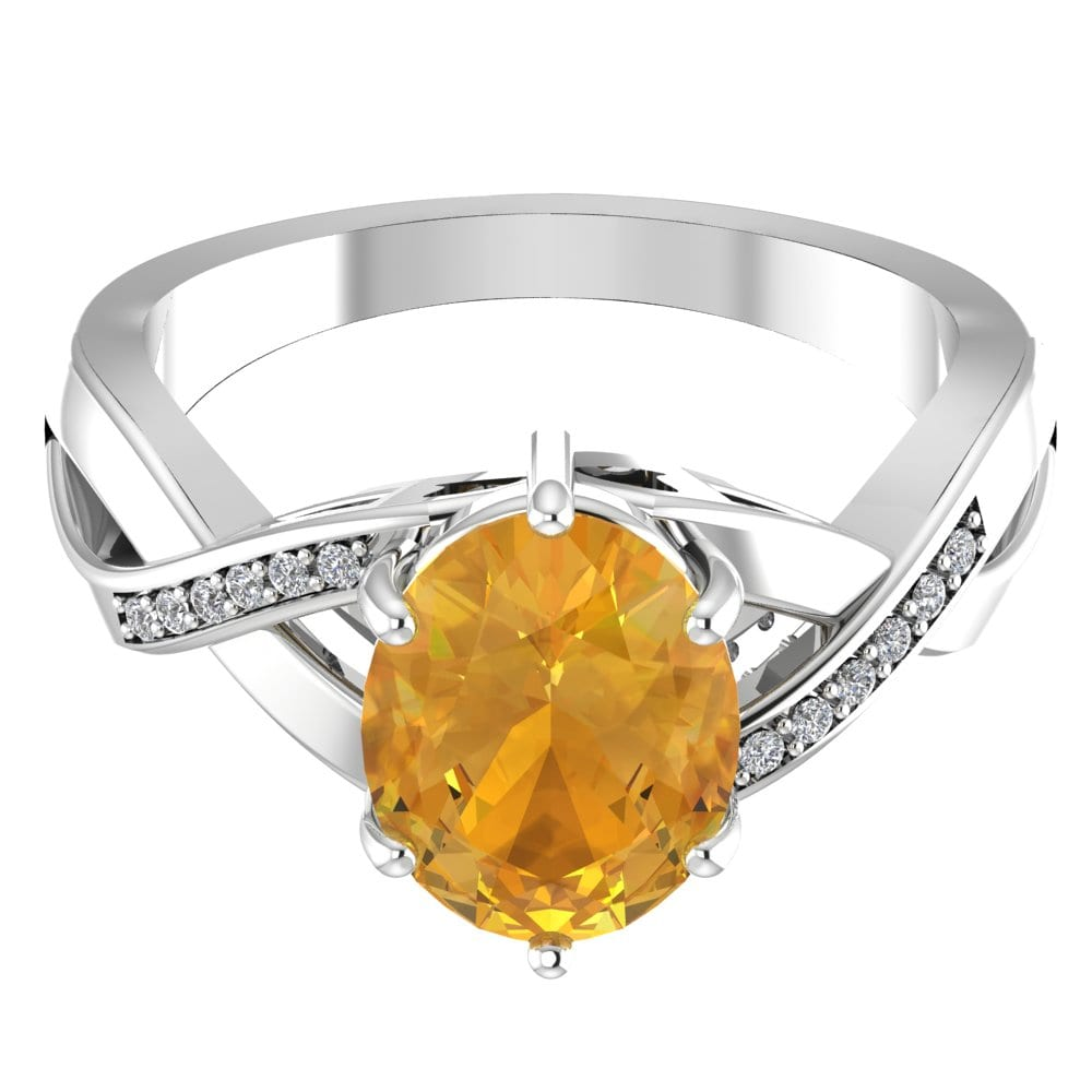 Citrine Rings Oval Shape