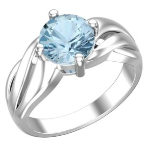 RSR 0338 - Sky Blue Topaz 8mm ring 1