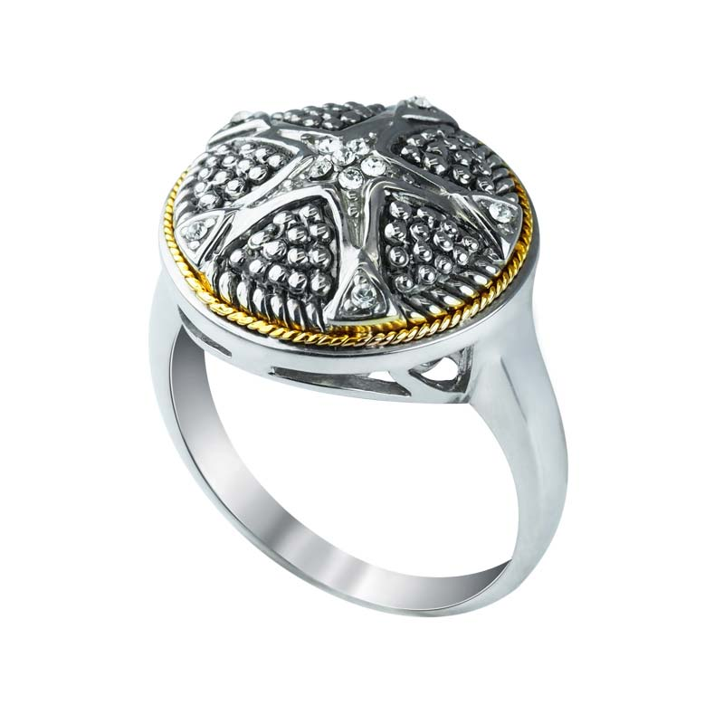 Bold & Beautiful sparkling ring in Gold and Silver with Swarovski Crystals