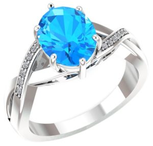 swiss blue topaz ring with diamonds 1