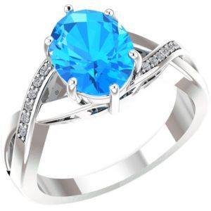 swiss blue topaz ring with diamonds 1