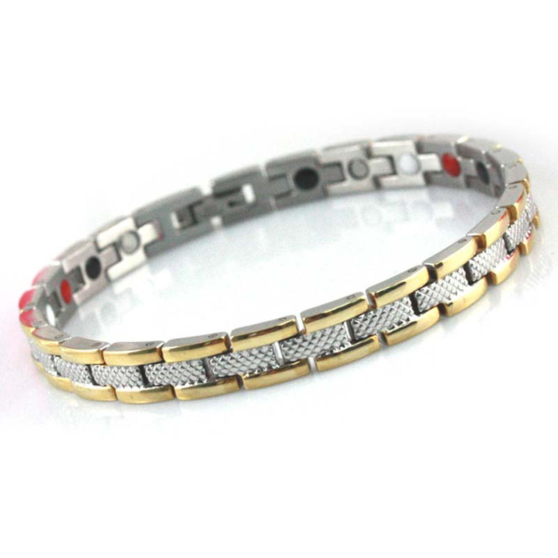 sterling silver and gold ion bracelet