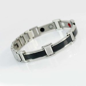Black and Silver Ion Bracelet