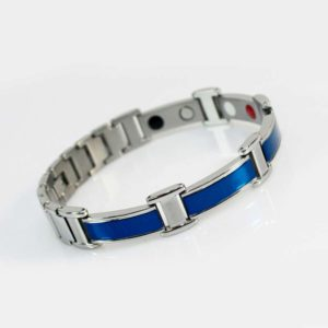 Blue and Silver Ion Bracelet