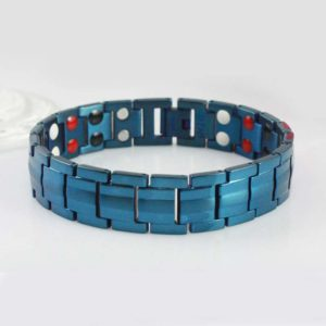 Blue Titanium ion bracelet for health and fashion