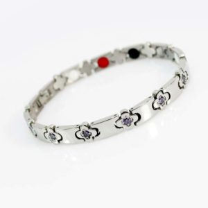 Flower Ion Diamond Bracelet by Health Wrist band USA