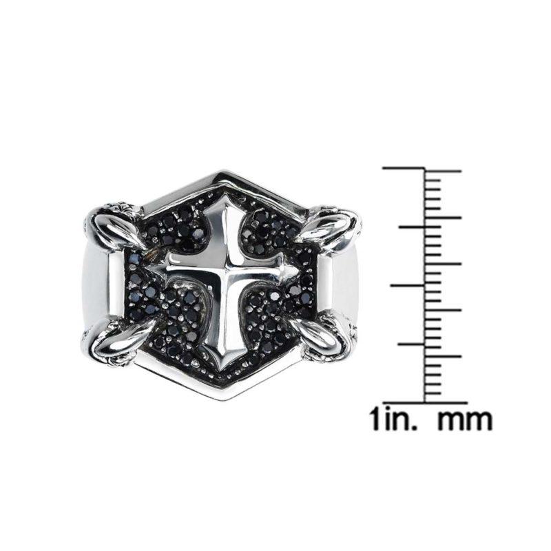 Sterling Silver Cross Ring RSR-0531