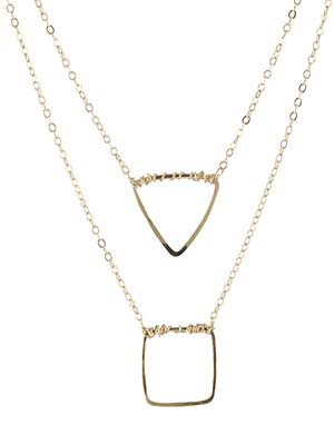 geometric shape necklace by peggyli
