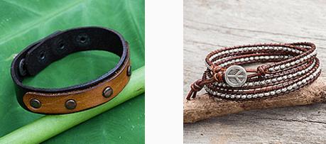 leather bracelets fro novica