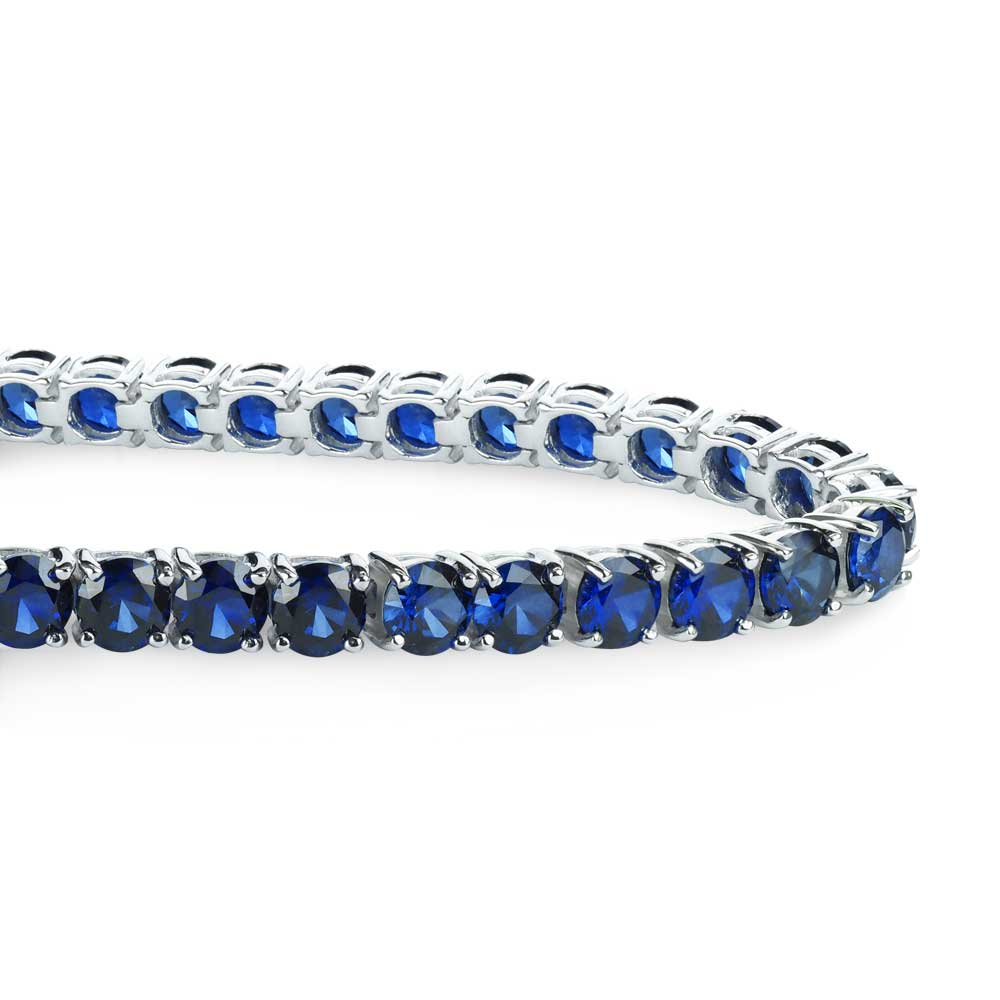 gallery carat sapphire bracelet blue gold media tennis icon