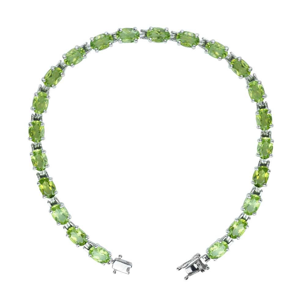 peridot tennis bracelet sterling silver gemstone tennis