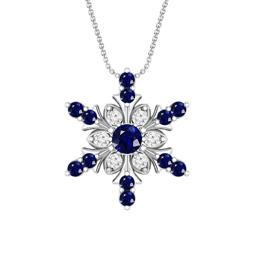 9e04aacc794d3c Sterling Silver Snowflake Pendant Necklace   Christmas Necklace