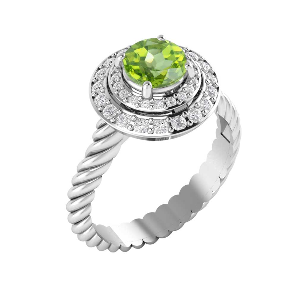 03f0c7efe957f5 Sterling Silver Bianca Ring in Peridot - Online Fashion Jewelry Store | Hottest  Sterling Silver Jewelry for Men & Women