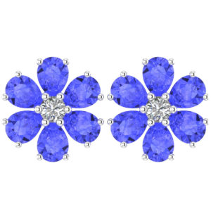 tanzanite birthstone stud earrings RSE 0191 1