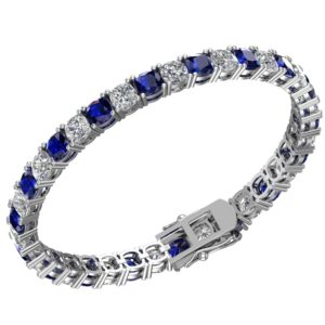 Blue Sapphire and White Topaz rsb 0024