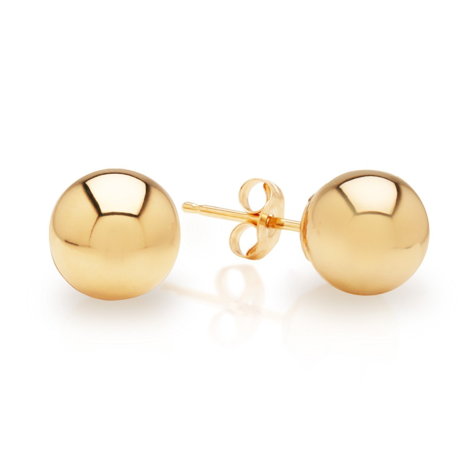 albert gold by designs knob earrings