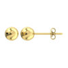 5mm 18K Solid Yellow Gold Ball Earrings Stud with Backs