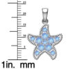 Rainbow moonstone starfish necklace RSP 0881