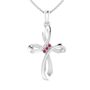 RSP 0420 Ruby cross NEcklace